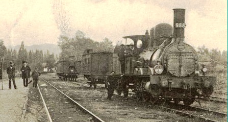 Une locomotive en 1910